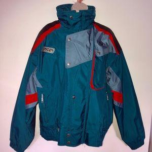 SPYDER vintage teal jacket/beautiful condition